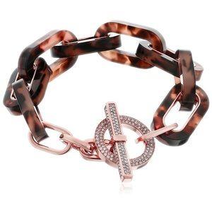 MICHAEL KORS Rose GoldTone Tortoise Link Bracelet